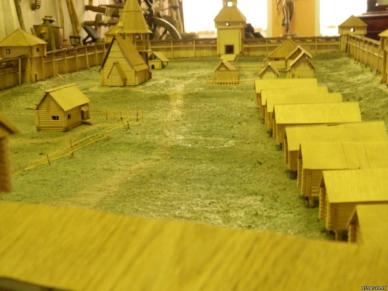 Макет крепости Усмань в краеведческом музее
